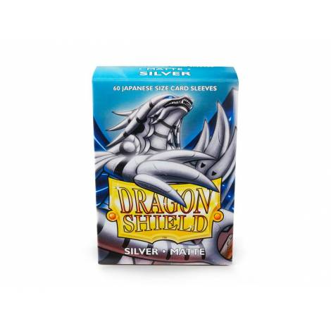 DRAGON SHIELD SILVER SMALL MATTE 60CT