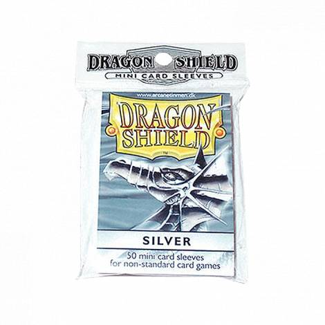 Dragon Shield Sleeves 50C   Small  Silver