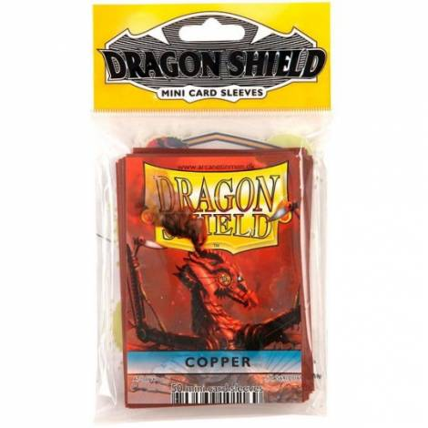 DRAGON SHIELD SMALL COPPER 50-CT