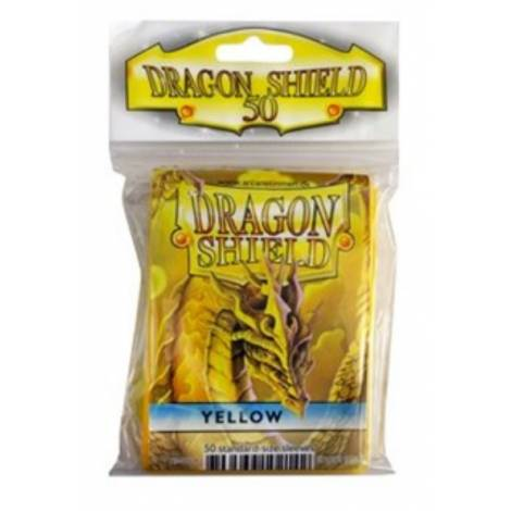 DRAGON SHIELD SMALL YELLOW 50-CT