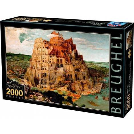 DTOYS ΠΑΖΛ 2000Τ.96x68εκ. BRUEGHEL THE TOWER OF BABEL 72900BR01