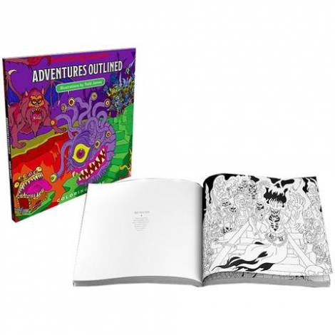 Dungeons & Dragons – Adventures Outlined Coloring Book