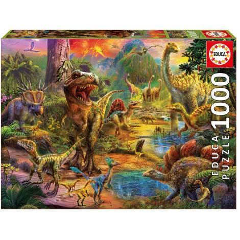 Educa Παζλ 1000Τεμ. Land Of Dinosaurs (17655)