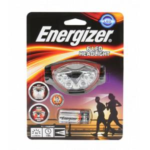 ENERGIZER ADVANCED HEADLIGHT LEDX6 3AAA - INCLUDES 3 AAA BATTERIES