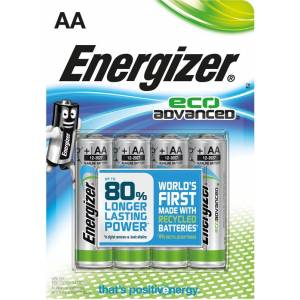 ENERGIZER ECO ADVANCED AA - 4 PACK