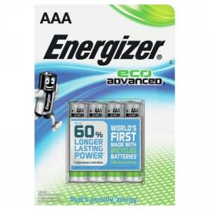ENERGIZER ECO ADVANCED AAA - 4 PACK