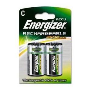 ENERGIZER RECHARGEABLE POWER PLUS 2500mAh C - 2 PACK