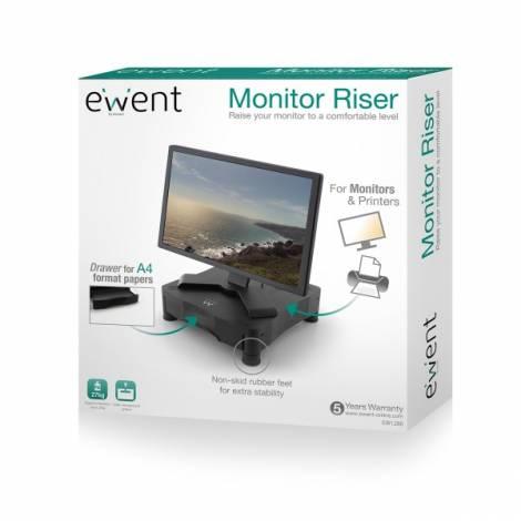 Ewent Monitor Riser w/drawer  (EW1280)