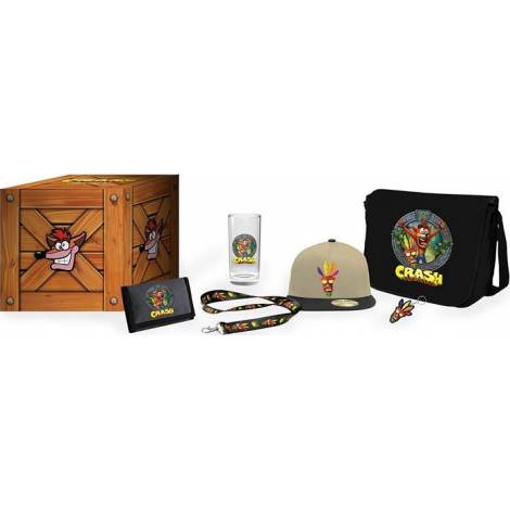 Exquisite Gaming Crash Bandicot - Crash Bandicoot Big Box Loot Crate (Includes Wallet,Cap,Tumbler,Keyring,Bag/Satchel,Lanyard)