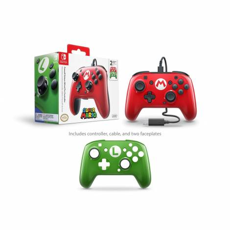 Faceoff Deluxe Wired Pro Controller Super Mario Edition (Nintendo Switch)