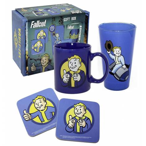 Fallout - Vault Boy (Mug + Glass + 2x Coasters) Gift Box (GFB0038)
