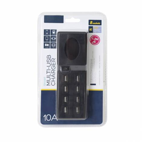 Family Charger Platinet 8-Port USB 10A μαύρο