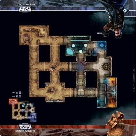 (ΚΑΙΣΣΑ) Fantasy Flight Star Wars: IMPERIAL ASSAULT: MOS EISLEY BACK ALLEYS MAP (playmat)