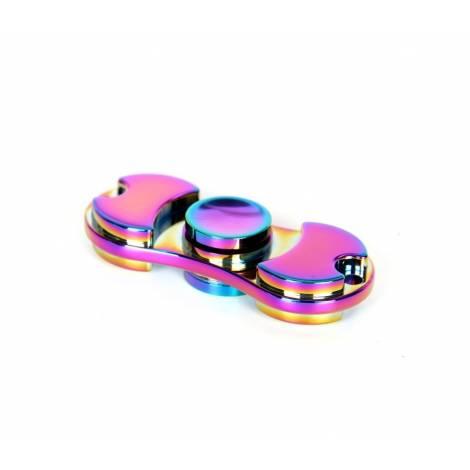 Fidget Spinner αλουμινένιο ,aluminum, Anti-Stress , Αγχολυτικό  2-Leaves - 3 λεπτά