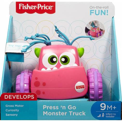 FISHER-PRICE PRESS 'N GO MONSTER TRUCK - PINK (DRG14)