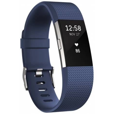 Fitbit Charge 2 Heart Rate and Fitness Wristband blue (small)