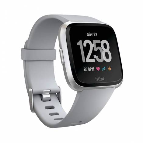 Fitbit Unisex Versa Health and Fitness Smartwatch (Gray / Silver Aluminum)