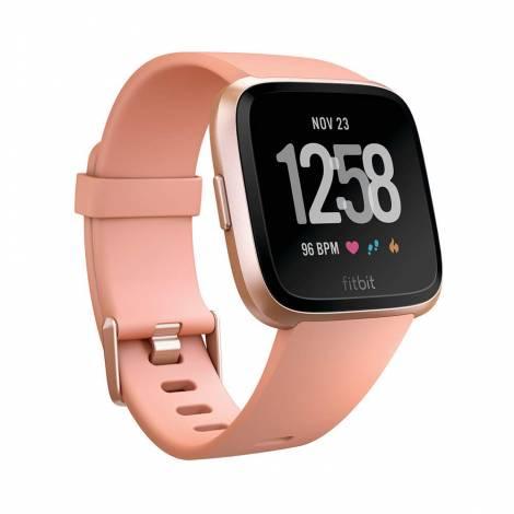 Fitbit Unisex Versa Health and Fitness Smartwatch (Peach / Rose Gold Aluminum)