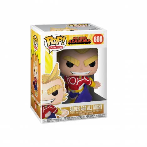 Funko POP! Animation: My Hero Academia S3 - All Might (Silver Age) # Vinyl Figure 608