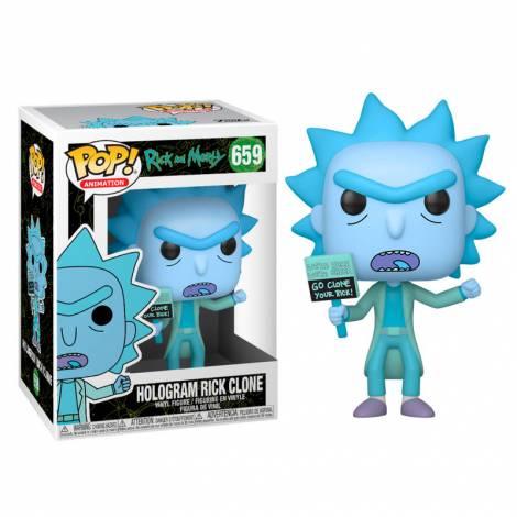 Funko POP! Animation Rick & Morty - Hologram Rick Clone # Vinyl Figure