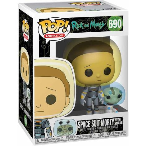 Funko POP! Animation: Rick & Morty - Space Suit Morty w/Snake # Vinyl Figure