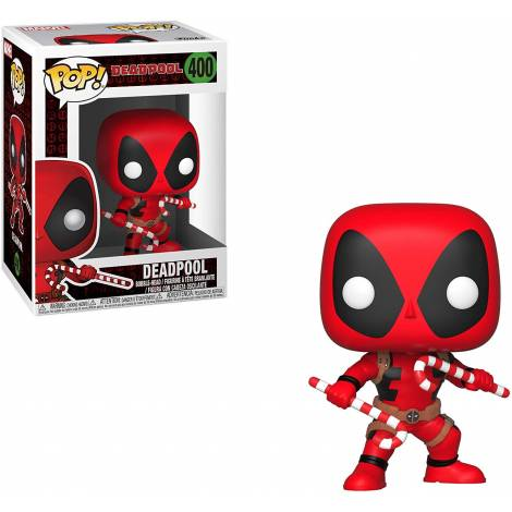Funko POP Bobble: Marvel: Holiday Deadpool w/Candy Canes #400