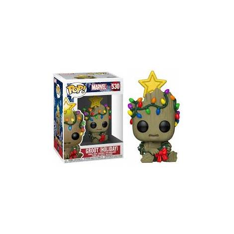 Funko POP Bobble Marvel: Holiday-Groot Collectible Figure