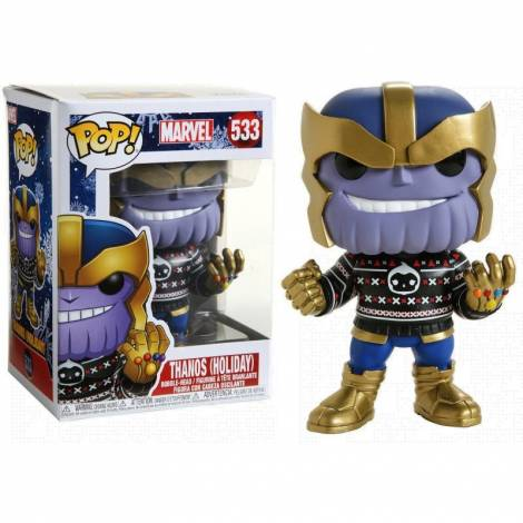 Funko POP. Bobble Marvel: Holiday-Thanos Collectible Figure