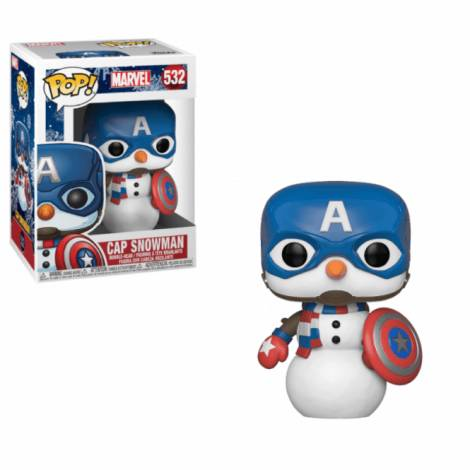 FUNKO POP! Captain America Snowman #532 Bobble-Head Vinyl Figure