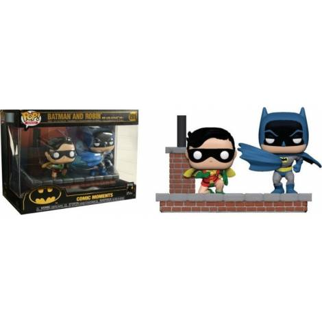 Funko Pop! Heroes Comic Moments: Batman 80th - Batman and Robin (New Look Batman 1964) #281 Vinyl Figures