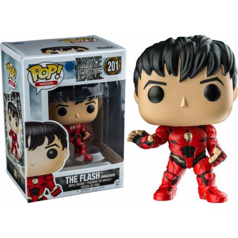 Funko POP! Justice League - The Flash Unmasked #201 Figure (Exclusive)