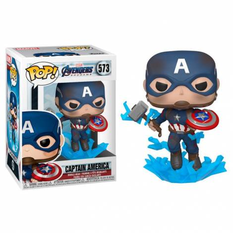 Funko POP! Marvel Endgame - Captain America with Broken Shield & Mjolnir #573 Bobble Head Vinyl Figure