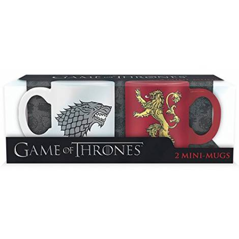 GAME OF THRONES - Set 2 mini-mugs - 110 ml - Stark & Lannister (ABYMUG196)