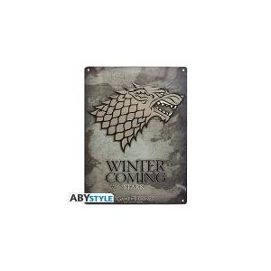 GAME OF THRONES - STARK METAL PLATE (28cm X 38cm)