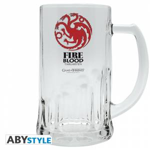 GAME OF THRONES - TARGARYEN FIRE AND BLOOD BEER GLASS (ABYVER021)