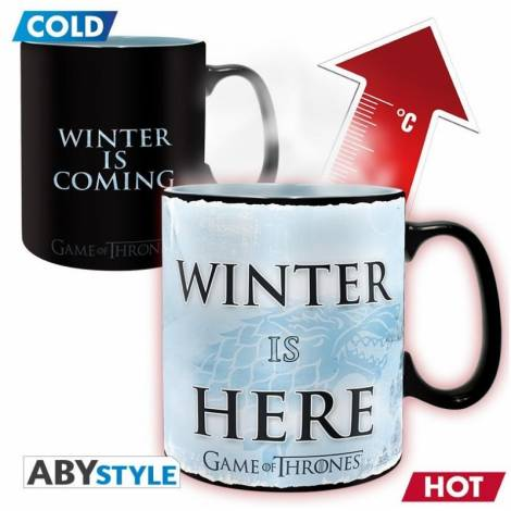 Game Of Thrones Winter is Here - 460ml Heat Changing Mug (ABYMUG445)