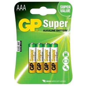 GP SUPER ALKALINE AAA - 4 PACK