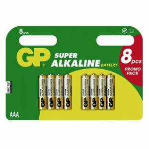 GP SUPER ALKALINE AAA - 8 PACK
