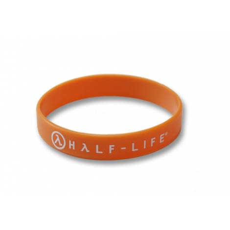 HALF LIFE 2 - HALF-LIFE TEXT & LOGO ORANGE RUBBER WRISTBAND (GE2215)