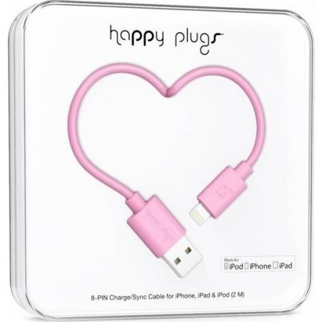Happy Plugs Lightning to USB Charge/Sync Cable 2.0m - PINK (9902)