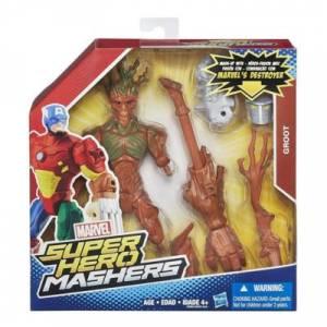 HASBRO MARVEL SUPER HERO MASHERS UPGRADE FIGURE &BATTLE EQUIPMENT - GROOT &MARVEL'S DESTROYER (B0882)