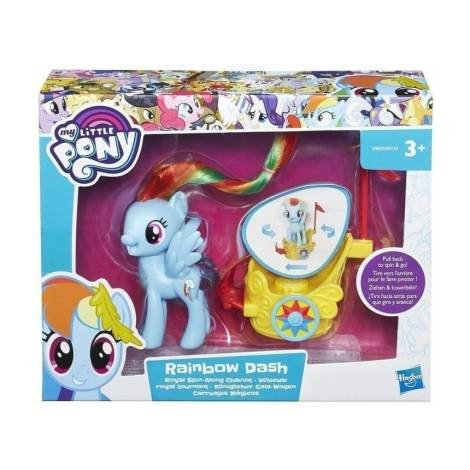 HASBRO MY LITTLE PONY SPIN ALONG CHARIOT - RAINBOW DASH FIGURE (B9835EU40)