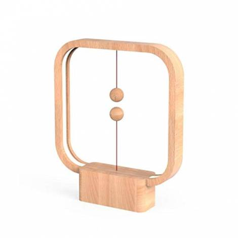 Heng Lamp Square by Allocacoc DesignNest (Light Wood)