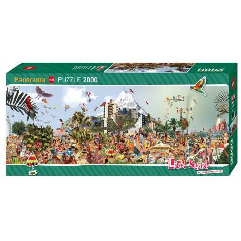 HEYE PANORAMA PUZZLE AT THE BEACH 29824  (2000 pcs)