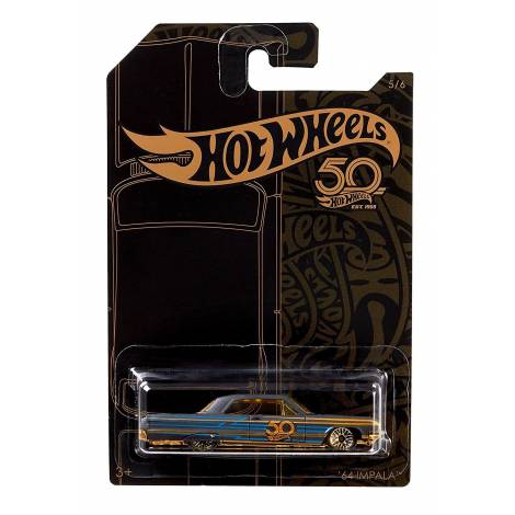 Hot Wheels 50th Anniversary Black & Gold - '64 Impala (FRN38)