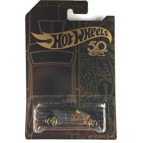Hot Wheels 50th Anniversary Black & Gold - '68 Dodge Dart (FRN37)