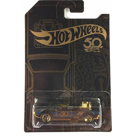 Hot Wheels 50th Anniversary Black & Gold - Rodger Dodger (FRN36)
