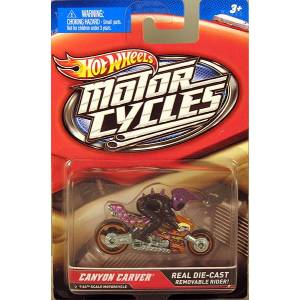 HOT WHEELS MOTORCYCLE WITH RIDER - CANYON CARVER (X2079)