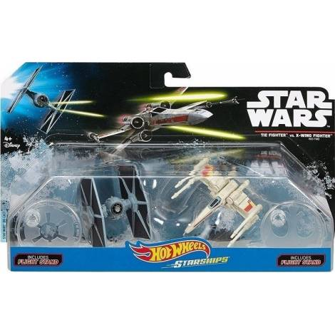 Hot Wheels - Star Wars Starships - Tie Fighter vs. X-Wing Fighter (Set of 2) (DYH44)