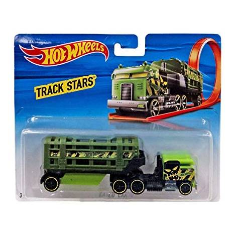 HOT WHEELS TRACK STARS - TRAILERS - CAGED CARGO (BFM61)
